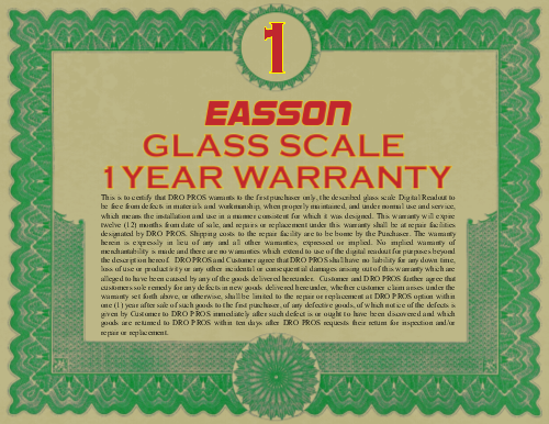 1 Year USA Warranty!